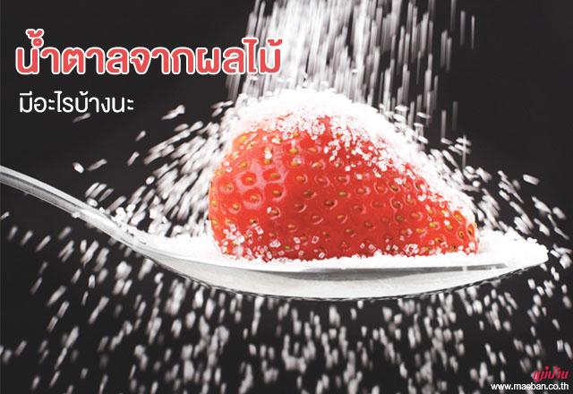 น้ำตาลจากผลไม้ มีอะไรบ้างนะ สำนักพิมพ์แม่บ้าน