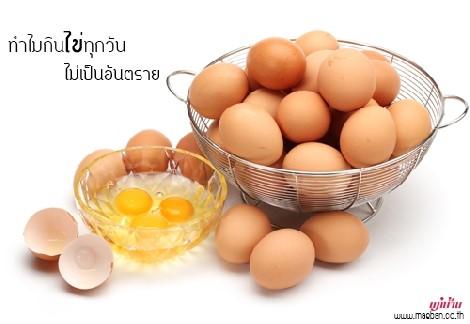 ทำไมกินไข่ทุกวันไม่เป็นอันตราย สำนักพิมพ์แม่บ้าน