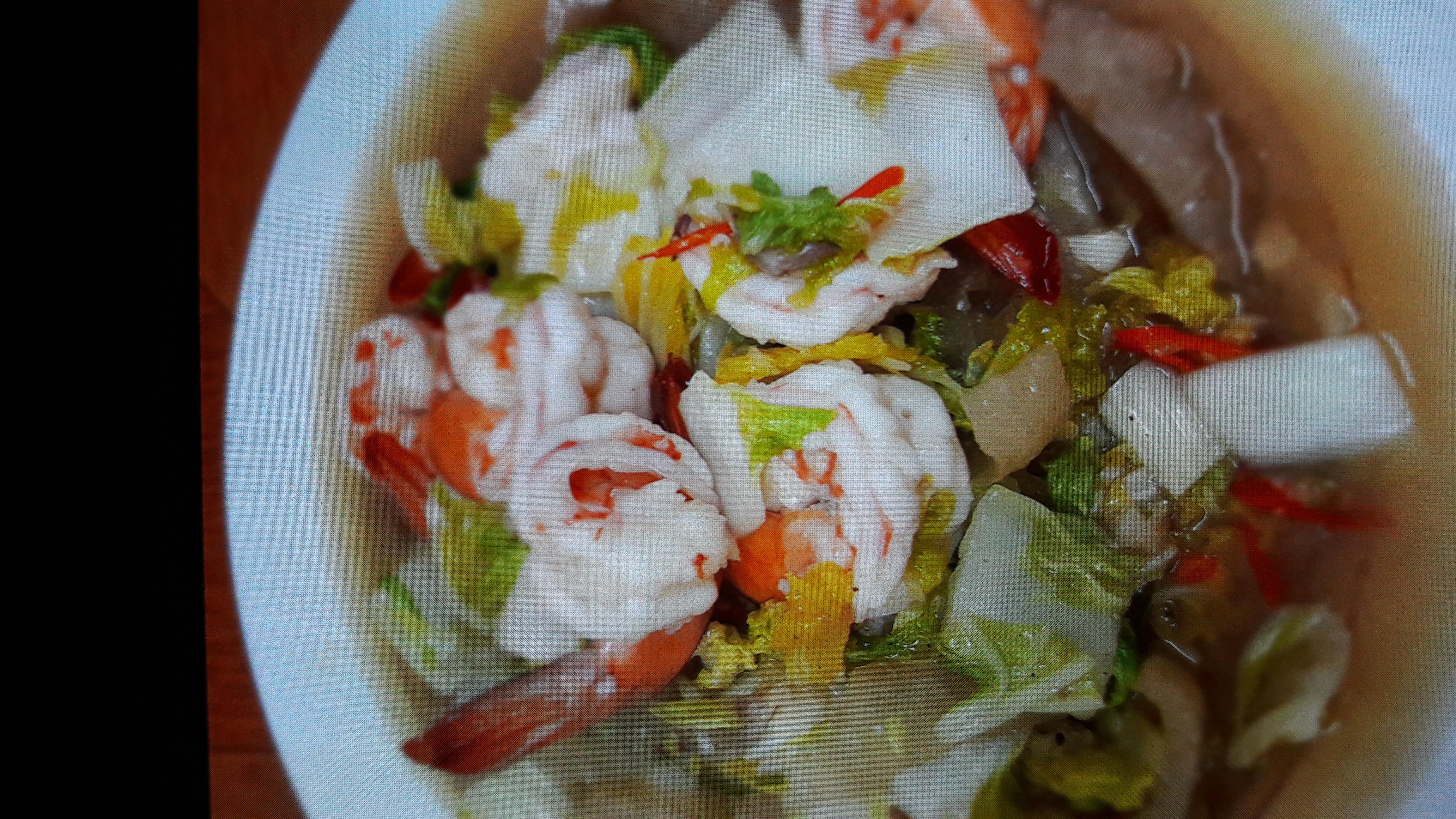 ผัดผักกาดขาวกุ้งใส่หนังหมู สูตรอาหาร วิธีทำ แม่บ้าน