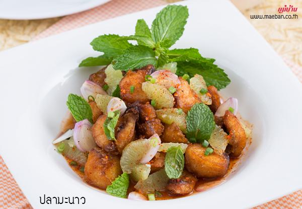 ปลามะนาว สูตรอาหาร วิธีทำ แม่บ้าน