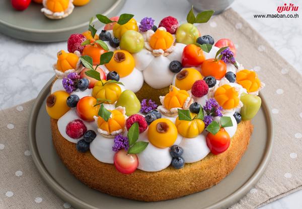 เค้กแคร์รอตครีมสด  สูตรอาหาร วิธีทำ แม่บ้าน