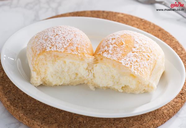 ขนมปังไส้ครีมสด สูตรอาหาร วิธีทำ แม่บ้าน