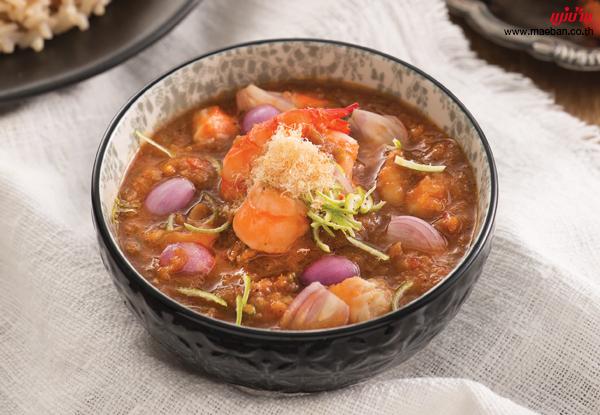 น้ำพริกผิวมะนาวกุ้งเผา สูตรอาหาร วิธีทำ แม่บ้าน