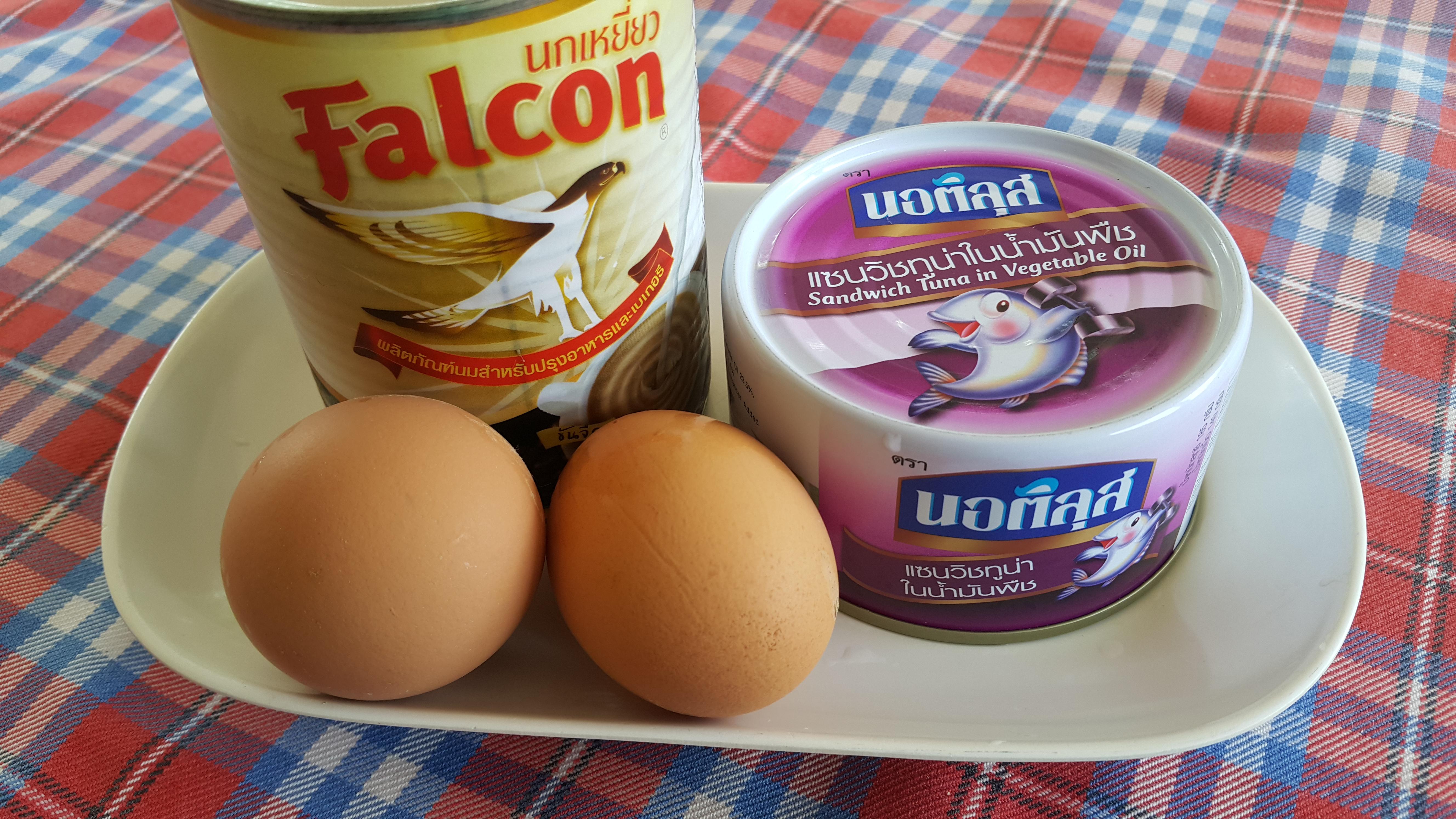 ไข่ข้นนมสดทูน่า สูตรอาหาร วิธีทำ แม่บ้าน