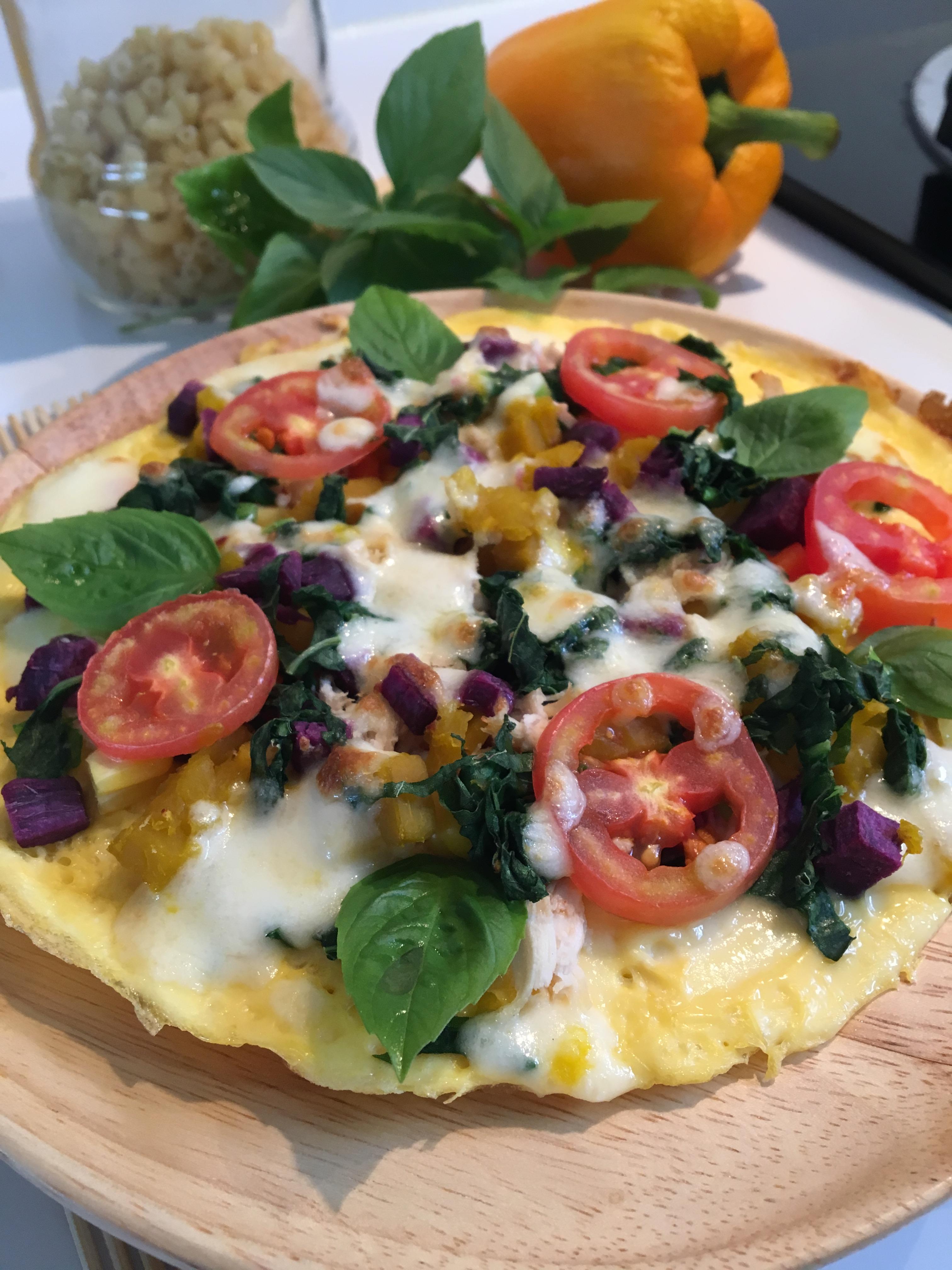พิซซ่าไข่ผักรวม สูตรอาหาร วิธีทำ แม่บ้าน