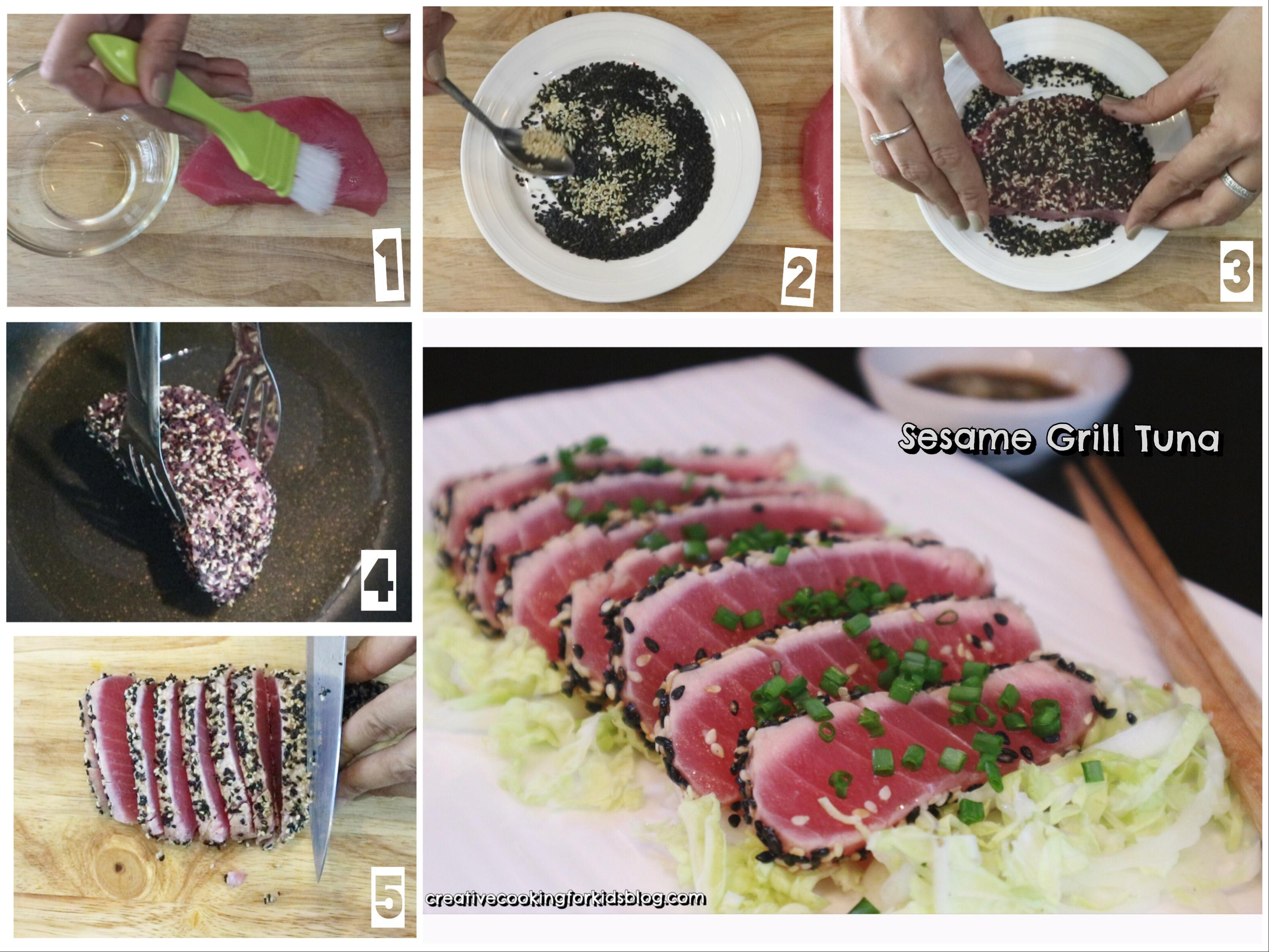 """อาหารคลีนง่ายๆ """" กริลล์ทูน่างาดำ """" ที่คุณทำเองได้ที่บ้าน สูตรอาหาร วิธีทำ แม่บ้าน"""