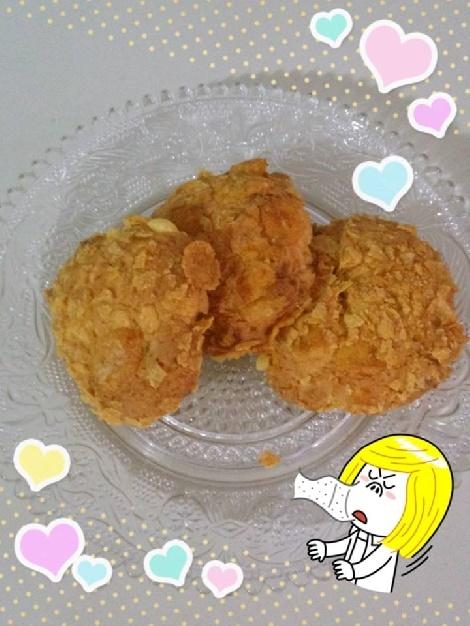 คุกกี้คอร์นเฟลกส์เซอร์ไพรส์ Cornflake Surprise Cookies สูตรอาหาร วิธีทำ แม่บ้าน