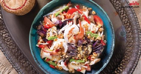 ตำเห็ดรวมปลาร้ากุ้งสด สูตรอาหาร วิธีทำ แม่บ้าน