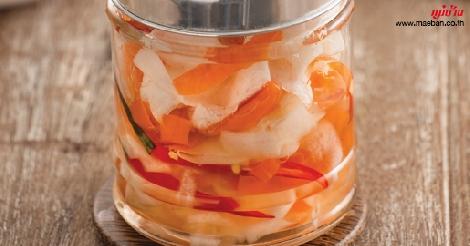 เปลือกหัวไชเท้าและเปลือกแคร์รอตดอง 3 รส สูตรอาหาร วิธีทำ แม่บ้าน