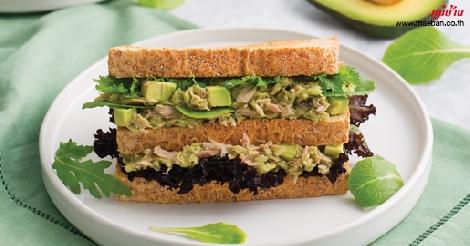 แซนด์วิชทูน่าอะโวคาโด สูตรอาหาร วิธีทำ แม่บ้าน