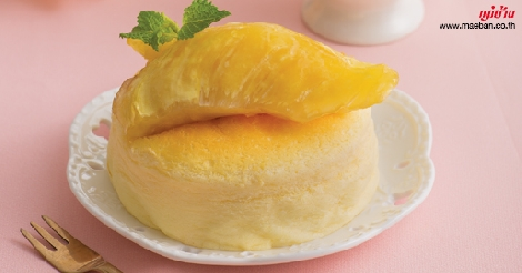 ไวต์ช็อกโกแลตซูเฟ่ลชีสเค้กทุเรียน สูตรอาหาร วิธีทำ แม่บ้าน