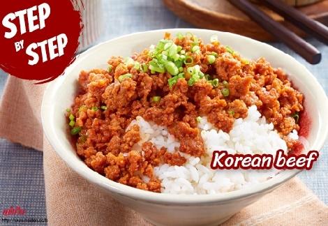 Korean beef สูตรอาหาร วิธีทำ แม่บ้าน