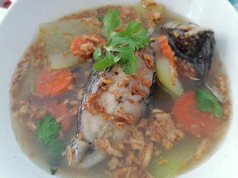 ต้มฟักปลานิล+ปลาช่อน สูตรอาหาร วิธีทำ แม่บ้าน