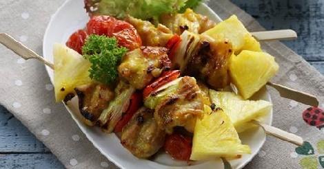 บาร์บีคิวไก่ย่างซอสกะทิ สูตรอาหาร วิธีทำ แม่บ้าน