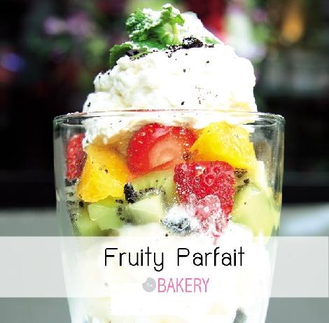 Fruity Parfait  สูตรอาหาร วิธีทำ แม่บ้าน