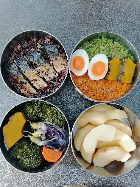 ซาบะอบเกลืองาคั่ว อาหารปิ่นโต สูตรอาหาร วิธีทำ แม่บ้าน