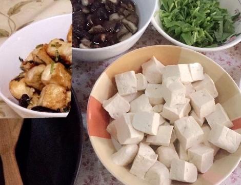 เต้าหู้ผัดเห็ดหอม สูตรอาหาร วิธีทำ แม่บ้าน