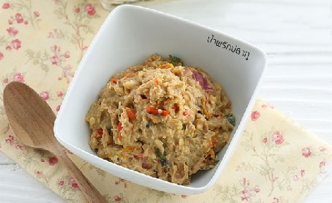 น้ำพริกปลาทู สูตรอาหาร วิธีทำ แม่บ้าน
