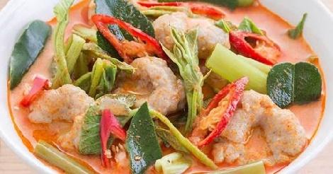 แกงคั่วผักบุ้งปลาขูด สูตรอาหาร วิธีทำ แม่บ้าน