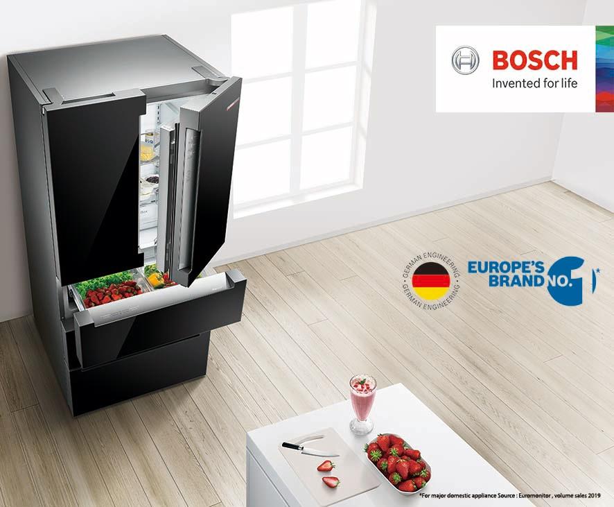 บีเอสเอชขอแนะนำตู้เย็นแบบ French door คงความสดของอาหารได้นานขึ้น 3 เท่า ไร้กังวลหากต้องอยู่บ้านนาน สำนักพิมพ์แม่บ้าน