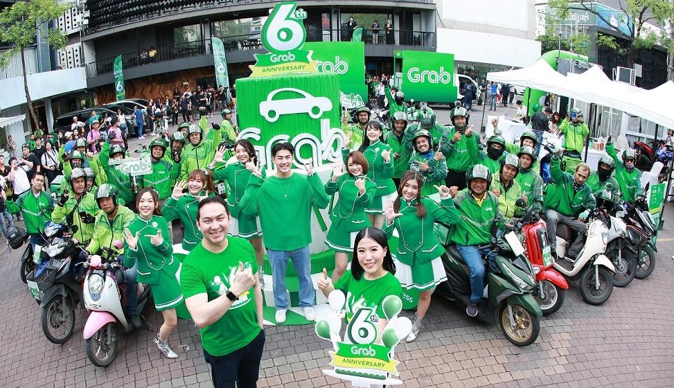 แกร็บ ฉลองความสำเร็จครบรอบ 6 ปี ในไทย ด้วยยอดเรียกใช้บริการรวมกว่า 320 ล้านครั้ง...