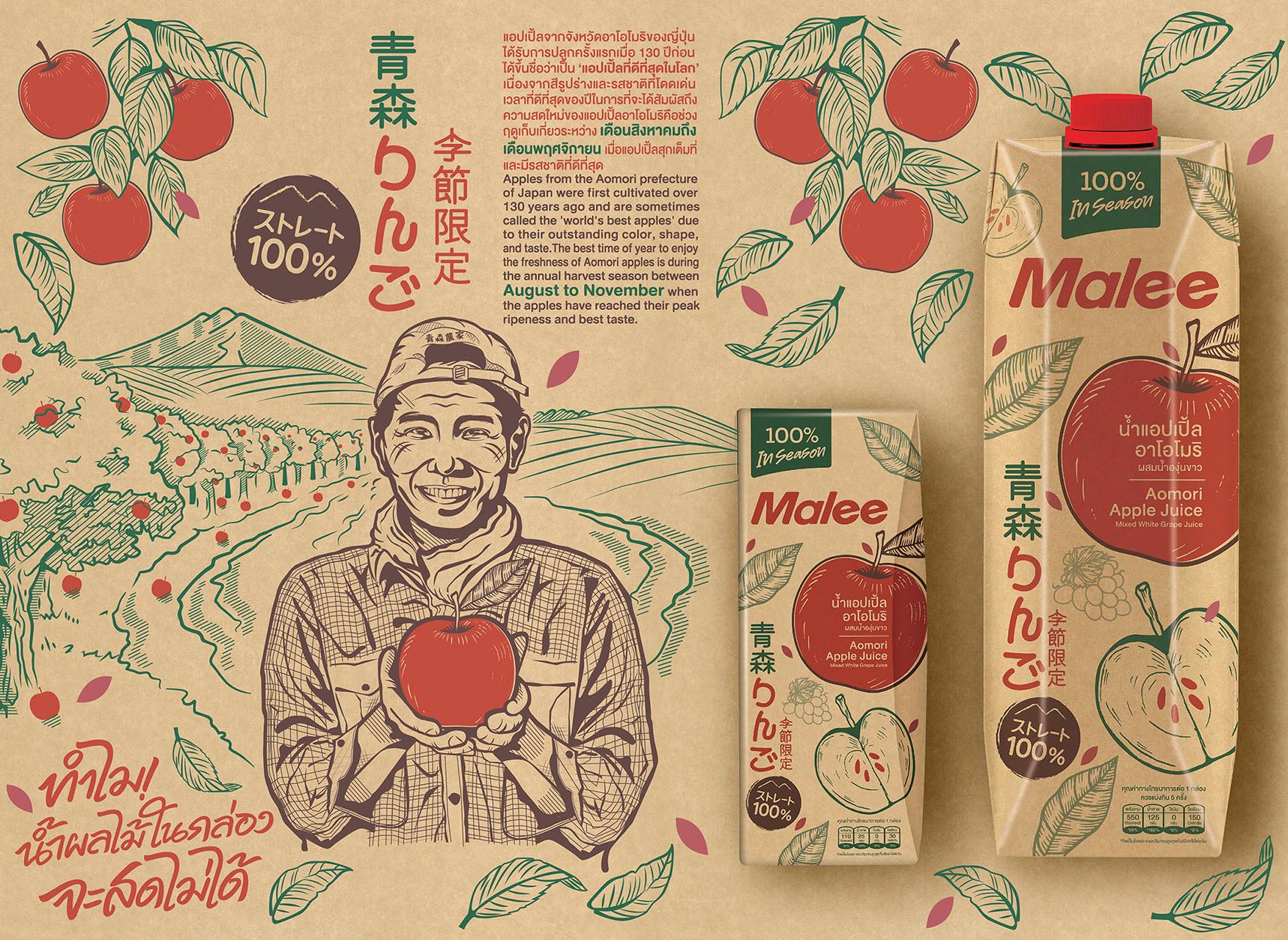 ลงตัวกับธรรมชาติ ใหม่! มาลี นำเสนอน้ำแอปเปิ้ลอาโอโมริ ในบรรจุภัณฑ์ Tetra Pak® Craft สำนักพิมพ์แม่บ้าน
