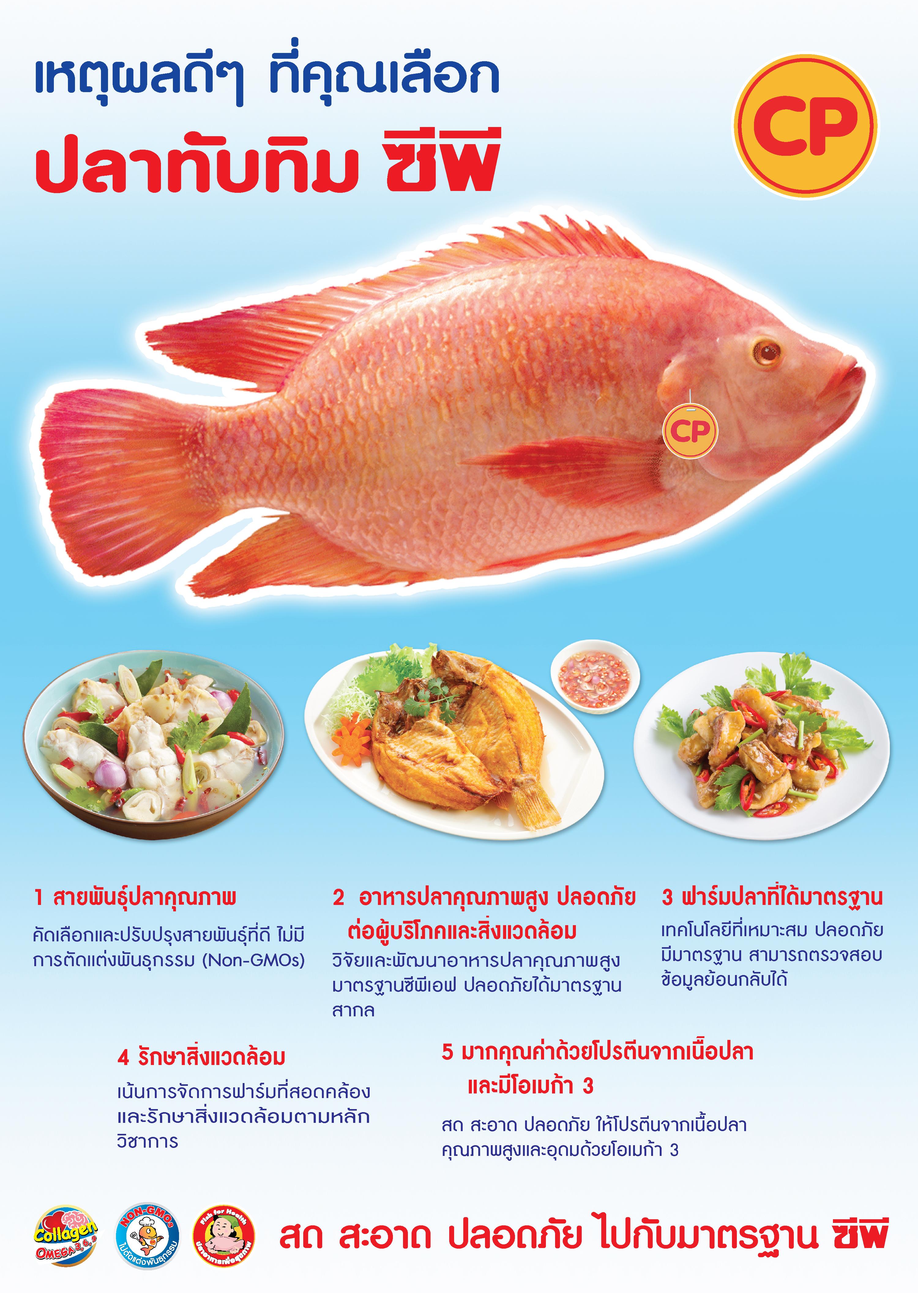 เหตุผลดีๆ ที่คุณเลือก ปลาทับทิม ซีพี