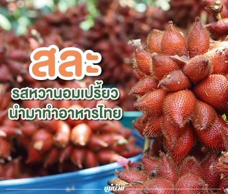 สละ... รสหวานอมเปรี้ยวนำมาทำอาหารไทย สำนักพิมพ์แม่บ้าน