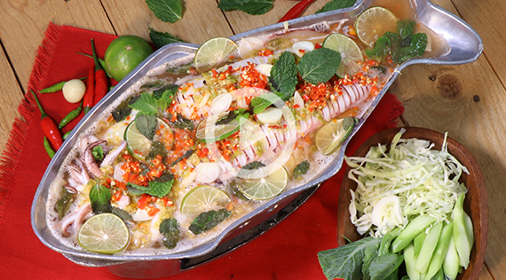 Cooking Clip : ปลาหมึกนึ่งมะนาวกระทะร้อน สำนักพิมพ์แม่บ้าน