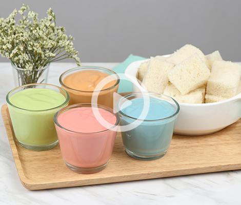 Cooking Clip : ขนมปังสังขยา 4 สี สำนักพิมพ์แม่บ้าน