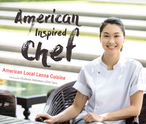 "American Inspired Chef  ""American Local Lanna Inspired Cuisine with Chef Tam"" สำนักพิมพ์แม่บ้าน"